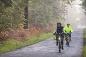 Balade à vélo électrique en hiver