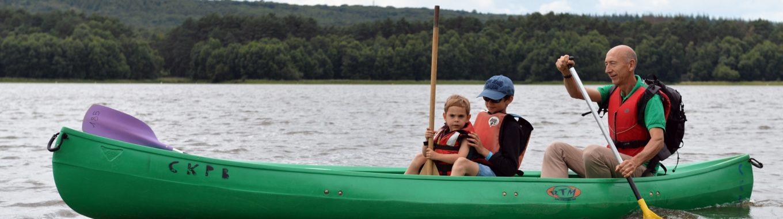 Balade en canoë sur l'étang