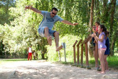 saut des animaux Jardins de Brocéliande