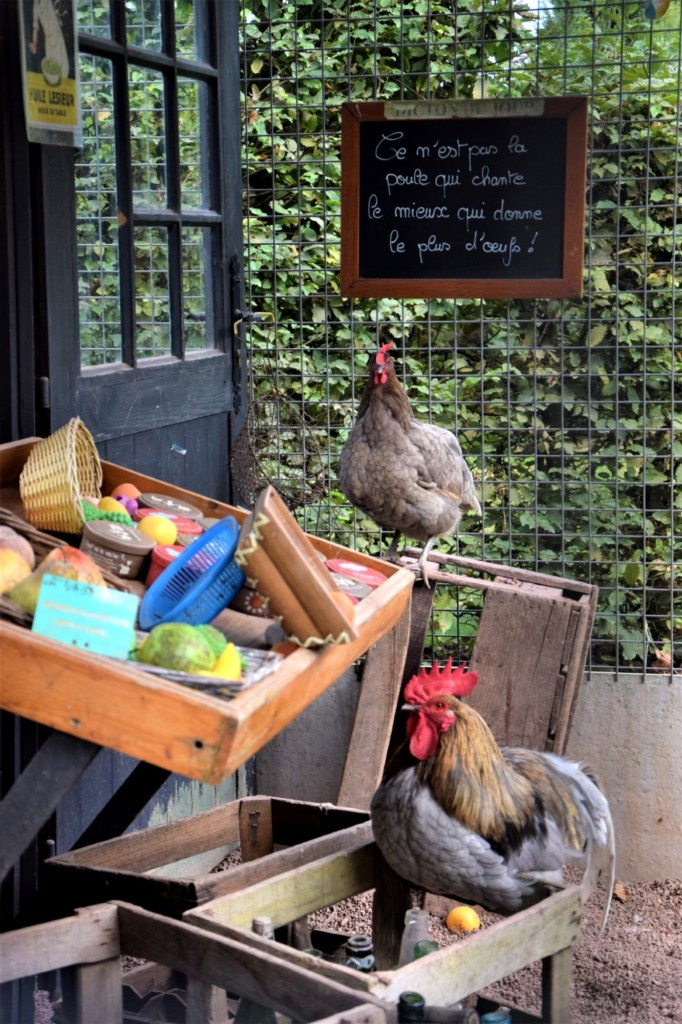 poulailler épicerie jardins de Brocéliande