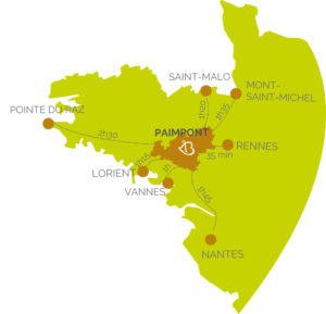 Carte - Brocéliande en Bretagne