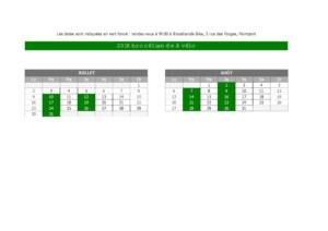 calendrier Brocéliande vélo été 2018