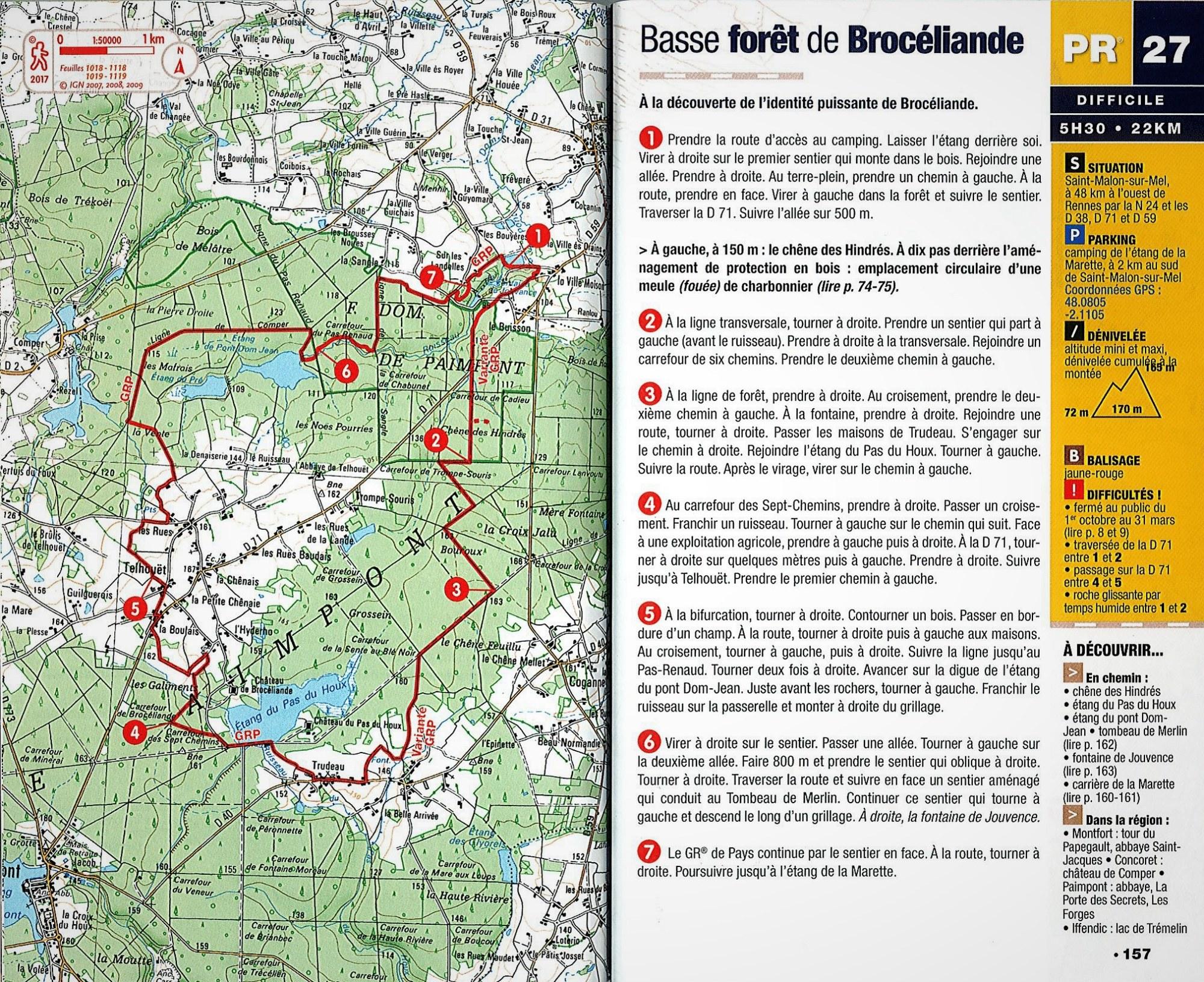 Carte Bretagne Randonnee.Circuits De Randonnee Pedestre Office De Tourisme De Broceliande