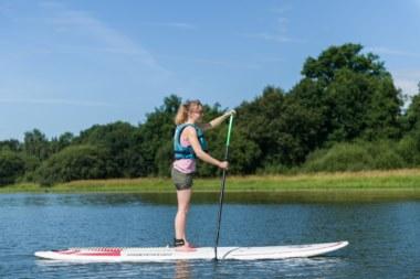 Lac au duc Ploermel (août 2016) paddle