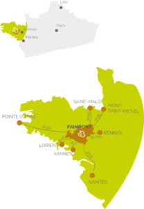 Carte de la situation de la Bretagne en France