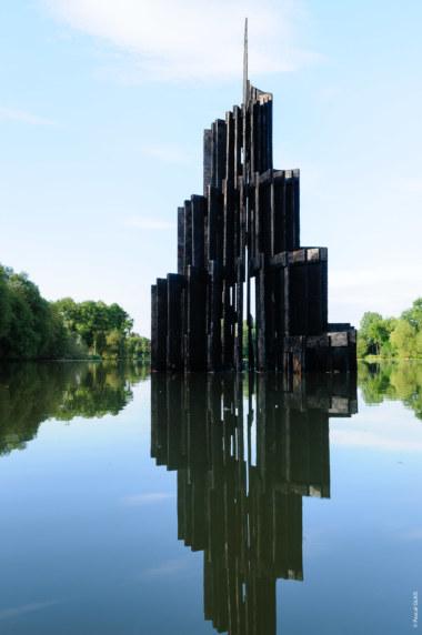 Babel par les Nouveaux Voisins - étangs d'art 2018, photo Pascal Glais.