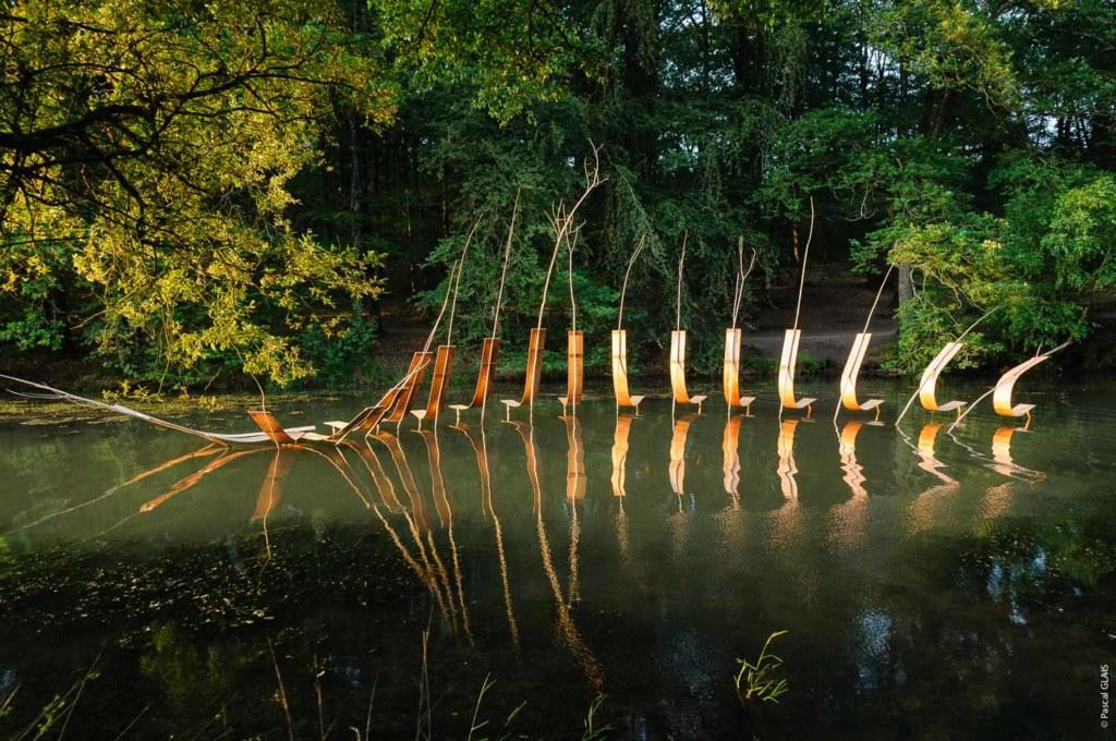 Convergence de Pascale Planche - étangs d'art 2018, photo Pascal Glais