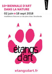 Affiche biennale étangs d'art 2018