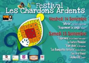 Festival les Chardons Ardents 2018 affiche