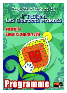 Festival les Chardons Ardents 2018 programme