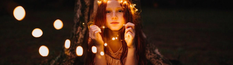 petite fille des bois lumière