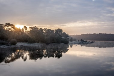 Lac de Viviane, château de Comper, Concoret, Bretagne