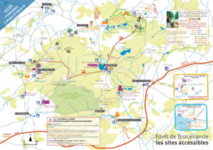 carte forêt sites accessibles
