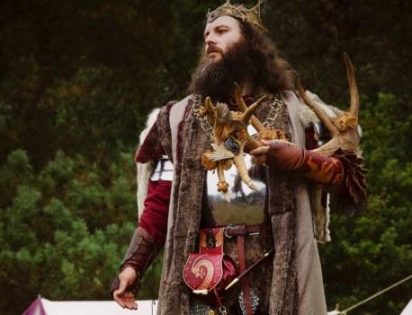 Pentecôte du roi Arthur, le roi. Centre de l'Imaginaire Arthurien