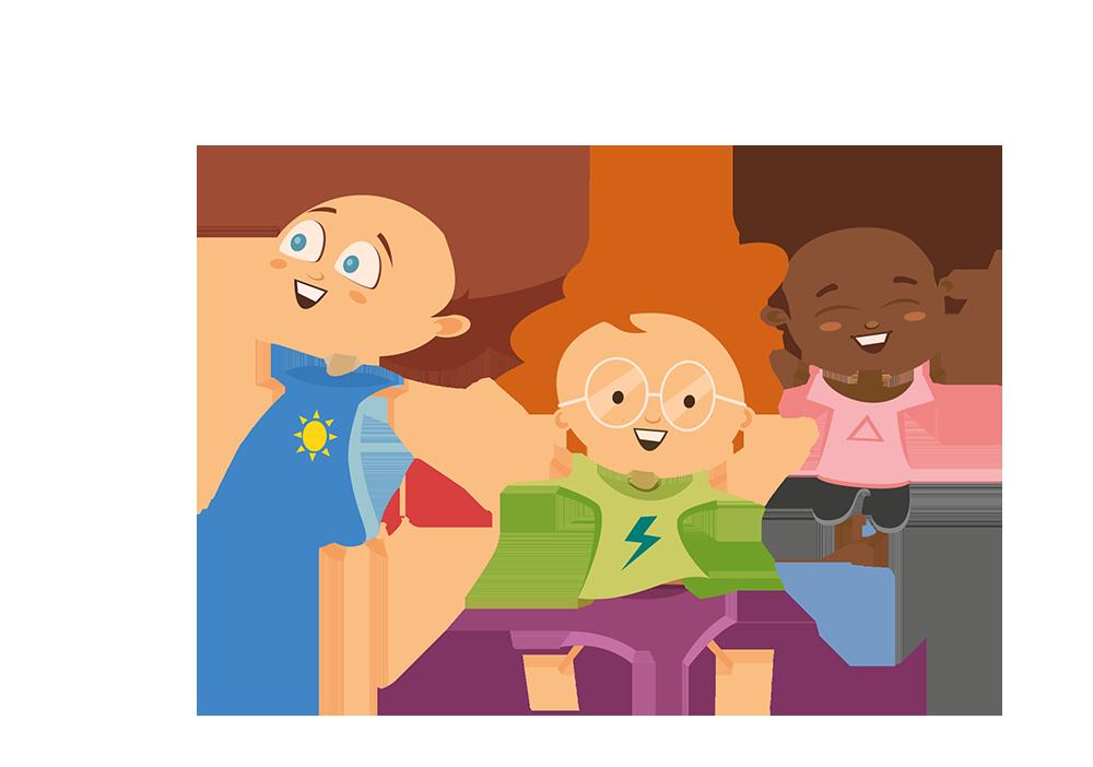 enfants bondissant illustration