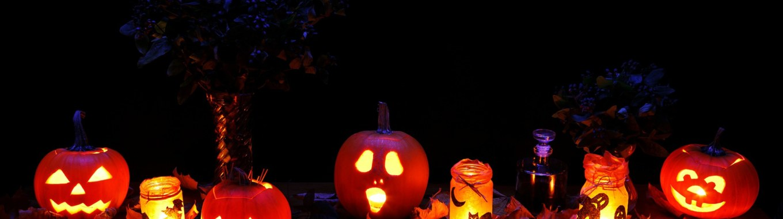 citrouilles, lanternes, halloween