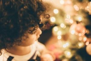 enfant, noël, hiver, étoile, photo