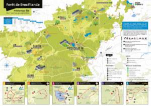 Carte forêt Brocéliande printemps-été