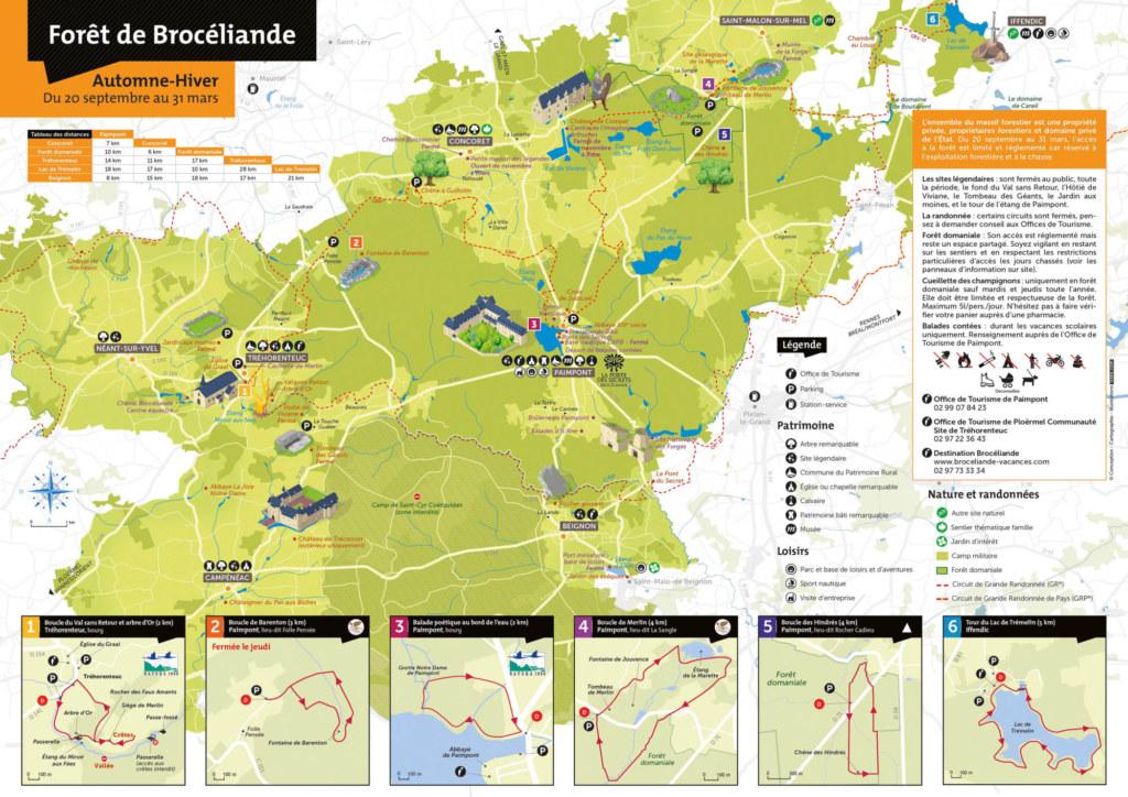 carte automne hiver forêt 2020